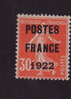 Preo 038 N°38 30 C Rouge Type Semeuse Poste France 1922 Gomme Charnière