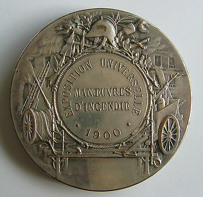 Official Participation Medal for Firefighting Paris Expo 1900 and Olympic Games