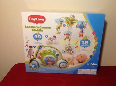 Tiny Love Soothe 'n Groove Mobile, Blue 0-24 Months NEW MINT