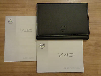 Volvo V40 Owners Handbook/Manual and Wallet 12-16