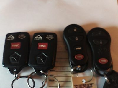 Lot of 4 Chrysler Dodge Jeep remote key fobs 04686366 56045497 04759008