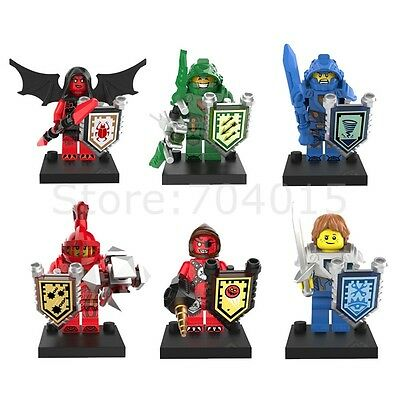 The NEXO Knights 6pcs Set Action Minifigures Building Blocks Toy For Kids Gift