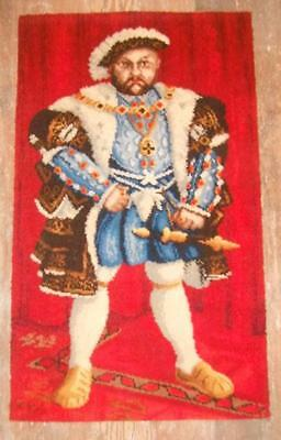 Vintage Mid Century Henry Viii Tapestry Wall Hanging By Bond - Worth