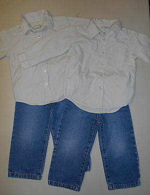 Set of TWIN Boys Clothing - TCP PLACE Shirt & Jeans Outfit, 4 Items - Size 3T
