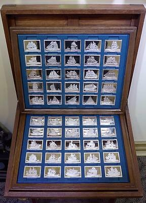 Sterling Silver Ingots 50 Bars The Great Sailing Ships Of History Franklin Mint