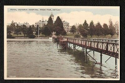 Netley Royal Victoria Hospital From Pier Coloured Printed Postcard