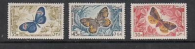 LIBAN  BUTTERFLY  STAMPS UNUSED .Rfno.155.