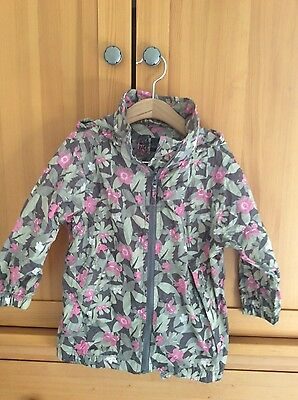 Jack in a Pack waterproof lightweight jacket girls 2-3 years pink grey