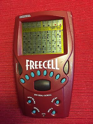 Radica Big Screen FreeCell Solitaire Handheld Electronic Travel Game 1999