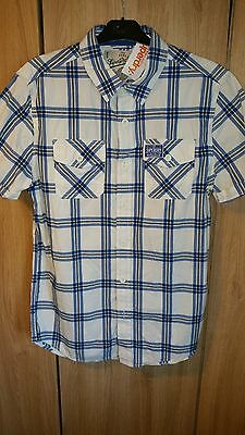Mens Superdry Shirt Bnwt Striking Formal Smart Or Casual Size L Mens Clothes