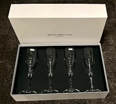 Royal Doulton 'Finsbury' Champagne Flute Set - Set of 4 *BRAND NEW*