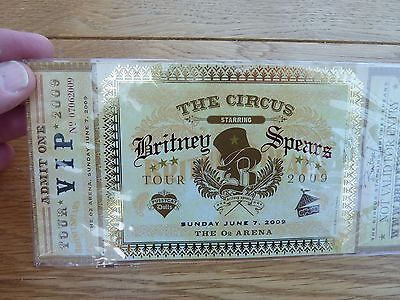 2009 Britney Spears Circus Tour London 02 Arena Vip Ticket New Sealed