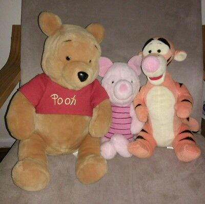 Winnie the Pooh, Tigger and Piglet Soft Toys