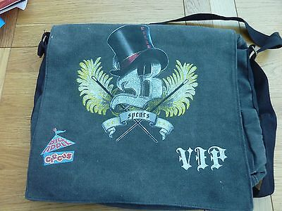 2009 Britney Spears Circus Tour Vip Canvas Tour Bag Original 16 X 13""