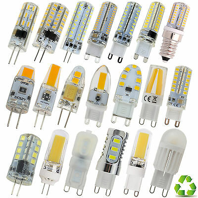 G4 G9 E14 Dimmable LED Corn Bulb Silicone Crystal SpotLight 3/6W 9W SMD/COB Lamp