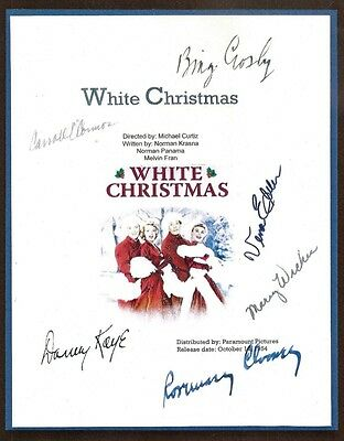 White Christmas Script Signed  Rpt Bing Crosby  Danny  Kaye  Rosemary  Clooney