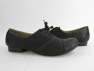 New Naturalizer Black Leather Lanny Lace On Loafer Womens 7M