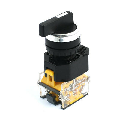380V 10A 3 Positions Rotary Selector 4-Terminal Self Locking Switch