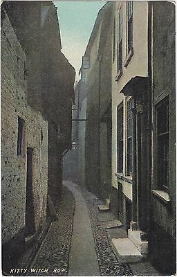 Postcard Kitty Witch Row Great Yarmouth Norfolk 1912