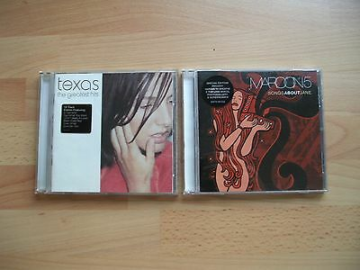 2  x  CD ALBUMS  -  TEXAS - THE GREATEST HITS  +  MAROON 5 - SONGS ABOUT JANE...