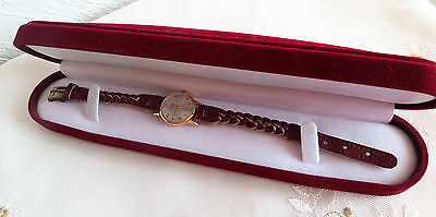 """Antique Womens 18K Yellow Gold Swiss Made """"onsa"""" Wristwatch, Rare, Collector Pc"""