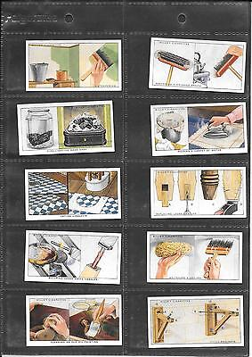 Will's (Channel Island Issue) - Household Hints - 1936 - 10 Very Good Cards
