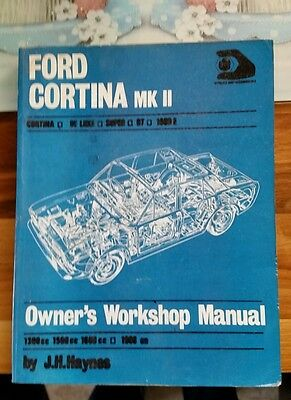 Ford Cortina Mk2 Mantainance Book