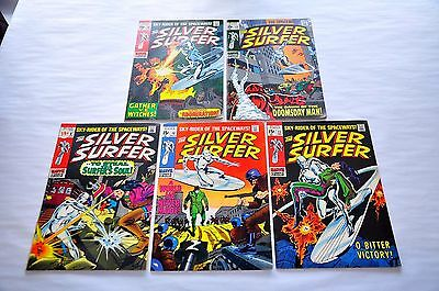 Silver Surfer 9 10 11 12 13 NICE Bronze Age Lot Capital City Collection