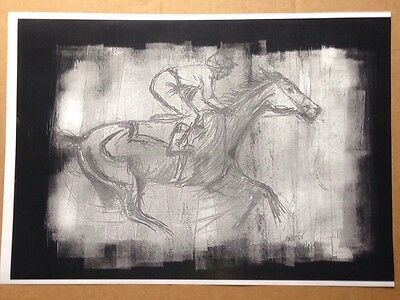 Horse Racing A4 Painting Print