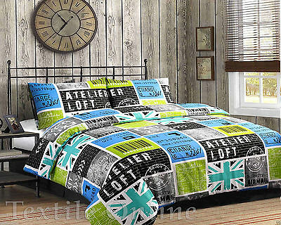 Duvet Cover with Pillow Case Uk-loft Quilt Cover Bedding Set King Size