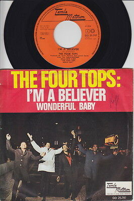 The FOUR TOPS * I'm A Believer * 1968 MOTOWN Northern SOUL MOD * Dutch Only 45 *