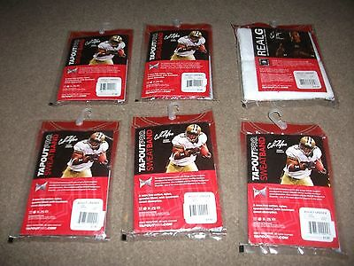 """JOB LOT OF 6 x NEW  PACKETS  OF  """"TAPOUT"""" PRO SWEATBANDS ADULT UNISEX"""