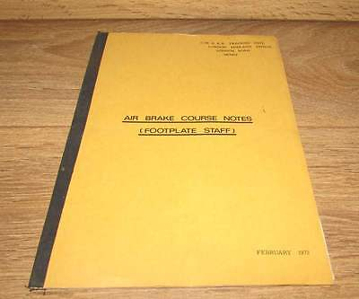 LMR Air brake course notes booklet (Footplate Staff) 1972