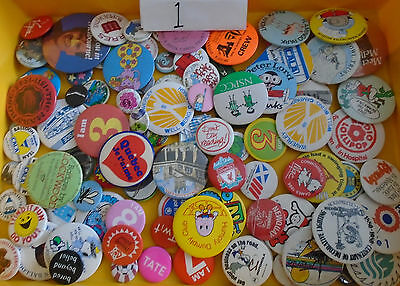 Job Lot Of Approx 100 Badges, As Shown, Lot 1
