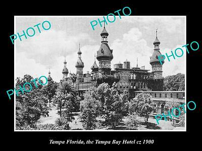 OLD LARGE HISTORIC PHOTO OF TAMPA FLORIDA, VIEW OF THE TAMPA BAY HOTEL c1900