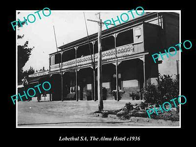 Old Large Historical Photo Of Lobethal Sa, View Of The Alma Hotel 1926