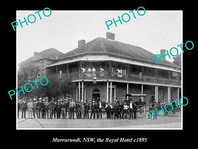 OLD LARGE HISTORICAL PHOTO OF MURRURUNDI NSW, VIEW OF THE ROYAL HOTEL c1895