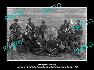 OLD LARGE HISTORIC PHOTO OF FRANKFORT KENTUCKY, THE NORMAL INSTITUTE BAND c1920