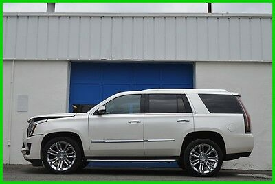 """2015 Cadillac Escalade Luxury 4WD 4X4 22"""" Wheels Rear DVD Nav Bose LOADED Repairable Rebuildable Salvage Lot Drives Great Project Builder Fixer Save Big"""