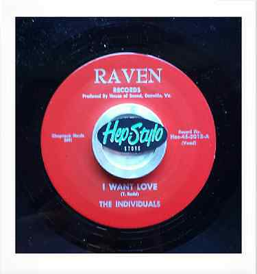 """45 Re-The Individuals  """"i Want Love""""/""""i Really Do"""" 1966 Garage Sonics ♫♫Listen♫♫"""