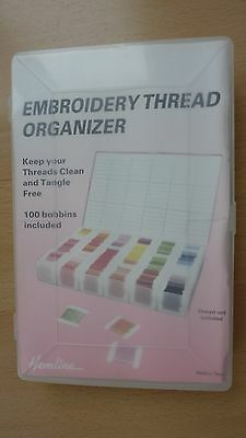 Embroidery Thread Organizer Sectioned Box