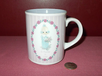 1990 ENESCO Mothers Day Samuel Butcher PRECIOUS MOMENTS MUG Cup A MOTHER IS LOVE