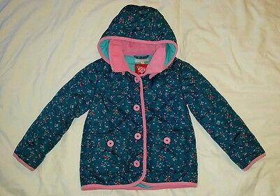 Girls Blue And Pink Quilted Jacket Age4/5 By Marks and Spencer