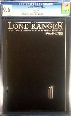 Lone Ranger (2006) #25 CGC 9.6 black cover silver bullet last issue (1099703022)