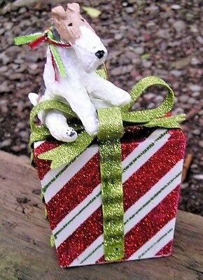 Wire Fox Terrier CHRISTMAS PACKAGE Ornament!