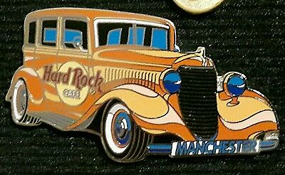 Hard Rock Café pin badge - Orange Classic Ford - Manchester Number Plate
