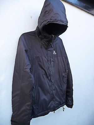 Mountain Equipment Permaloft Hooded Jacket Coat Mens Unisex Size M  Black Excell