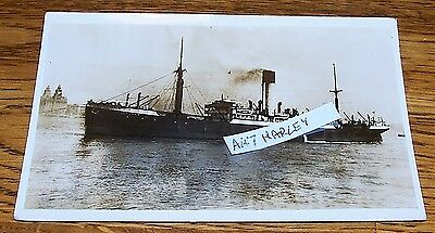 RP postcard steam ship Agapenor (Built 1914) at Liverpool