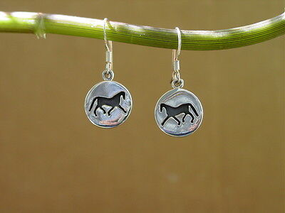 Silhouette Horse Earrings,Sterling Silver Horse Jewelry