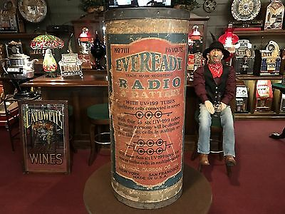 "1925 EVEREADY Battery Retail Store Display 30"" "" Watch Video"""